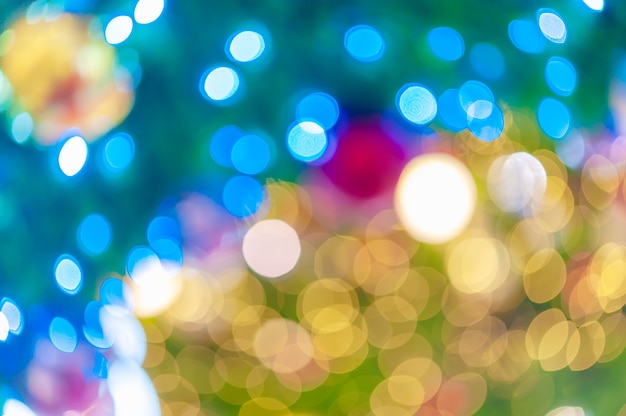 Night light colorful bokeh abstract background blur lens flare reflection