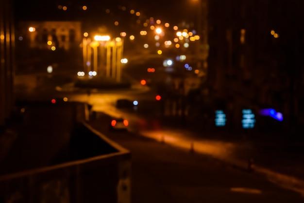 Ночные огни большого города. боке фон
