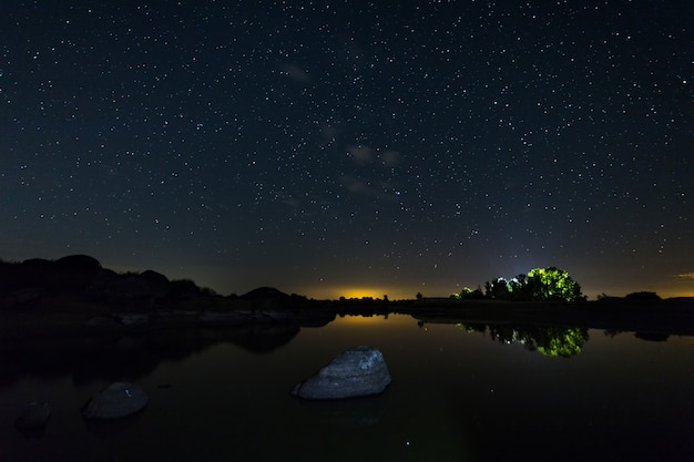 Night photography in a natural area