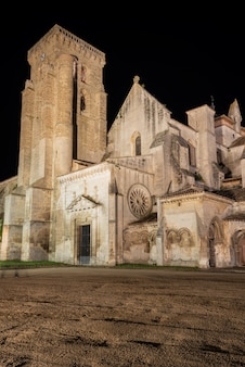 Night scene of monasterio de las huelgas