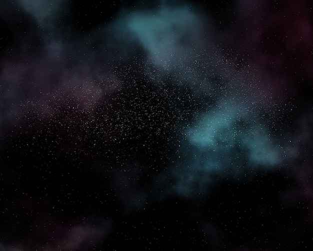 Night sky background with nebula