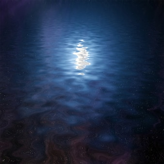Ночное небо отражается в воде