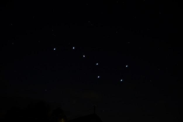 밤하늘 별자리 큰곰자리