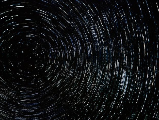 Night sky with circle star trail. long exposure shot