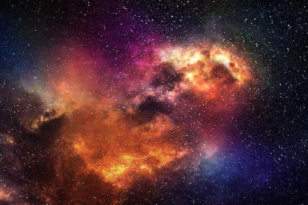 별과 성운 밤 하늘