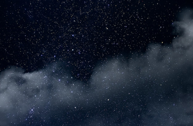 Night sky with stars and soft milky way universe background