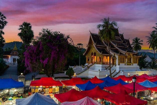 The night souvenir market in luang prabang, laos