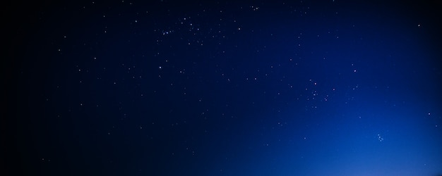 Night star sky dark blue at night background nature