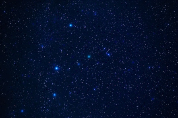 Night starry sky with stars, constellations, nebulae and galaxies at night. abstract dark blue background