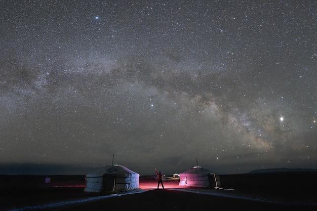 Ночная съемка пейзажей с длинной выдержкой. млечный путь