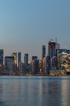 Night view of downtown toronto, ontario, canada
