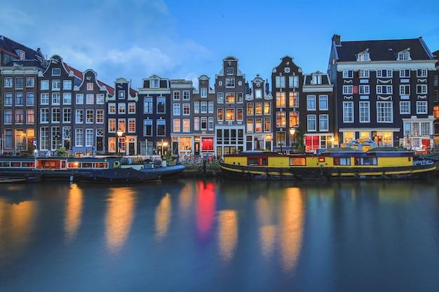Ночной вид в амстердаме