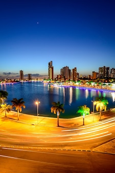 Night view of the old weir in campina grande paraiba brazil on december 12 2013