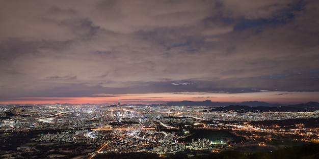 Night view of seoul from namhansansung