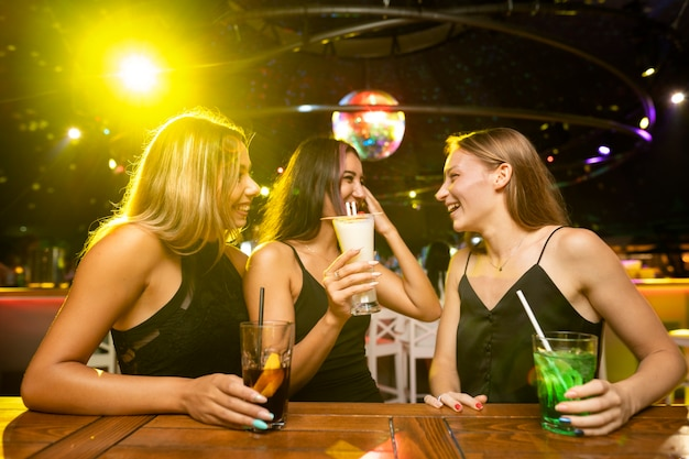 Nightlife people having fun in bars and clubs