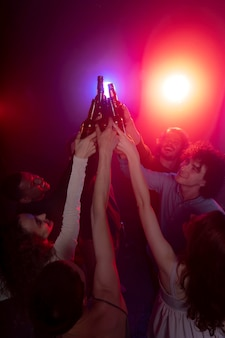 Nightlife with people dancing in a club