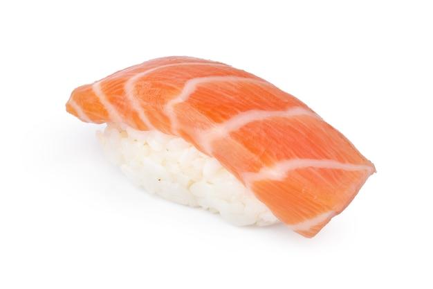 Nigiri sushi piece isolated on white background