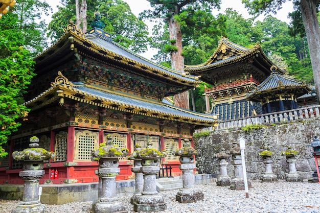 Nikko toshogu shrine temple in nikko at autumn.