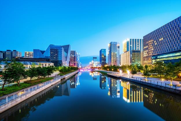 Ninbo city, china, night view