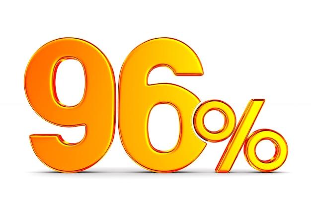 Девяносто шесть процентов на белом пространстве. изолированные 3d иллюстрации