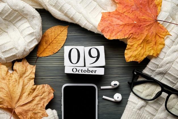 Девятый день осеннего календарного месяца октябрь.