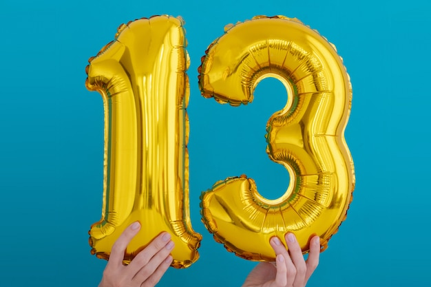 Золотая фольга № 13 праздничный воздушный шар
