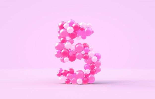 Сладкие розовые конфеты на воздушных шарах № 5.