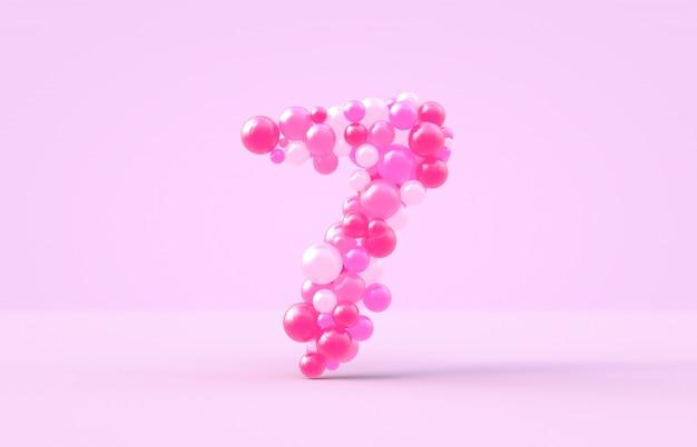 Сладкие розовые конфеты на воздушных шарах № 7.