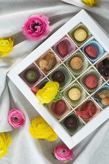 No bake organic sustainable raw sweets prepared with natural ingredients, top view