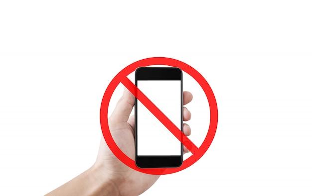 전화가 없거나 사진을 찍으면 서명이 허용되지 않습니다 프리미엄 사진