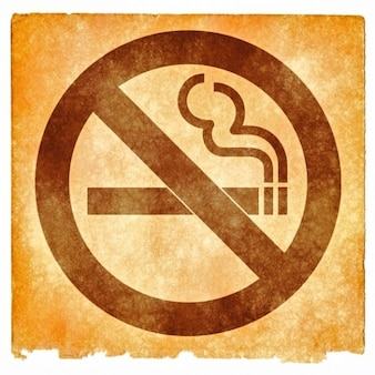 No smoking grunge sign