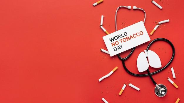 Nessuna disposizione degli elementi del giorno del tabacco