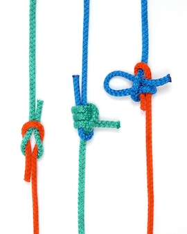Node with colored ropes