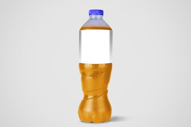 무 알코올 음료 병 흰색 절연