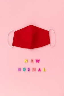 ニューノーマルの刻印入り非医療用フェイスカバーマスク