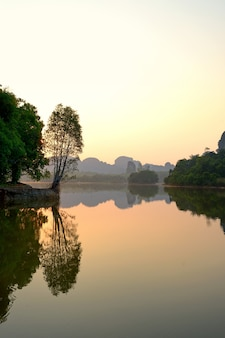 Nong thale, krabi province, thailand, trees and mountains