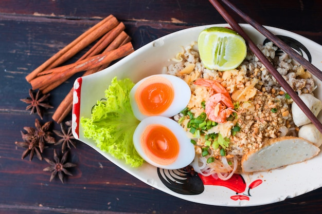 Noodle ancient recipes from thailand
