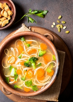 Noodle soup for winter meals