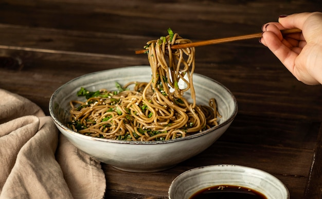 Noodles in a bowl assortment