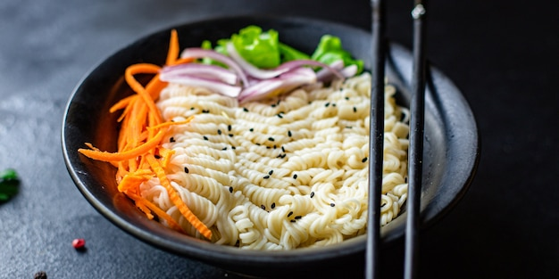 Noodles rice or wheat vegetables cellophane pasta