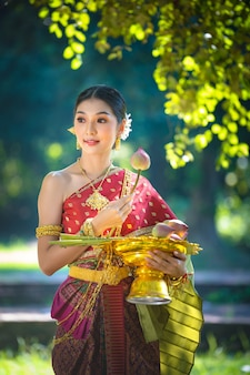Noppamas queen contest in loy kratong