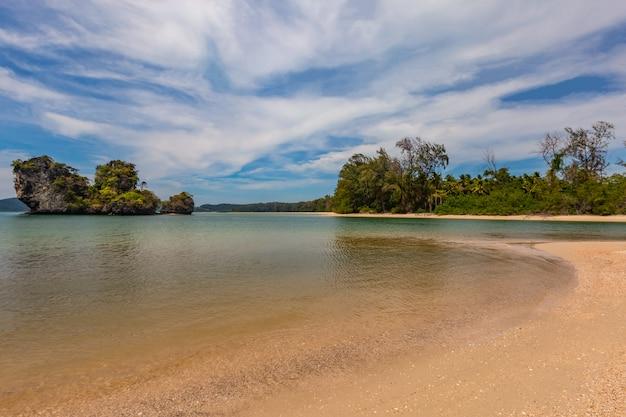 Nopparat thara beach in the midday, krabi province, thailand