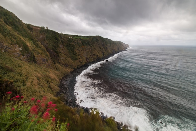 Nordeste coastline in azores