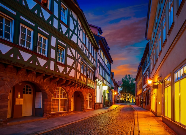 Nordhausen city at sunset in thuringia germany