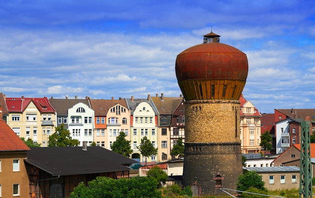 Nordhausen downtown facades in harz thuringia