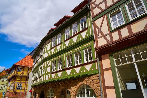 Nordhausen downtown facades thuringia germany