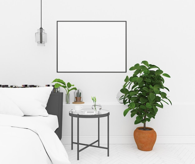Nordic спальня - горизонтальная рама