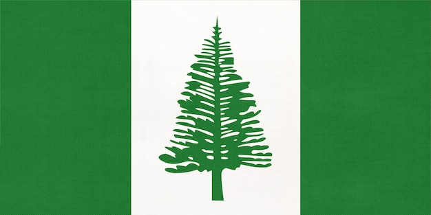Norfolk island national fabric flag, textile background  symbol of world oceania country