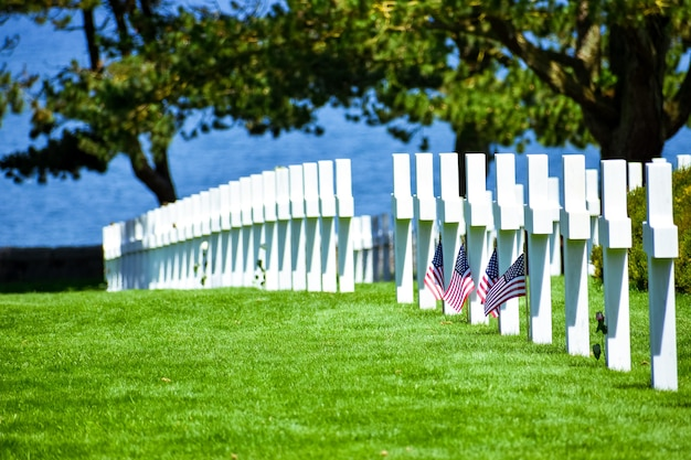 Normandy american cemetery and memorial, colleville-sur-mer, normandy, france.
