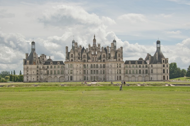The north facade of the chateau of chambord
